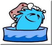 puffle-bathing