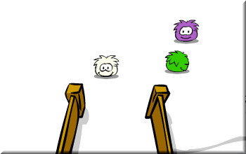white-puffle-in-club