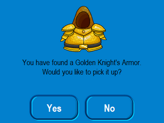 golden knights armor item
